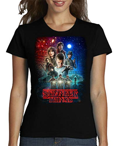 Camiseta de Mujer Stranger Things Serie Retro TV 80 S