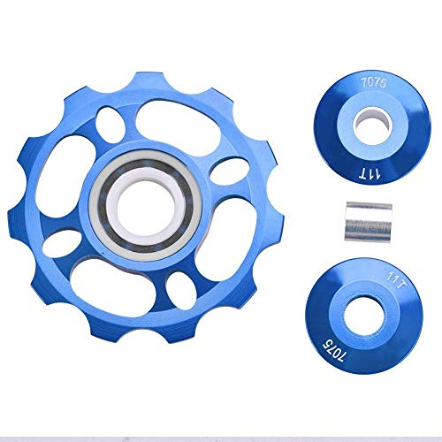 Keenso Roldana de Guía Trasero de Bicicleta, Polea Guía 11 T (Azul)
