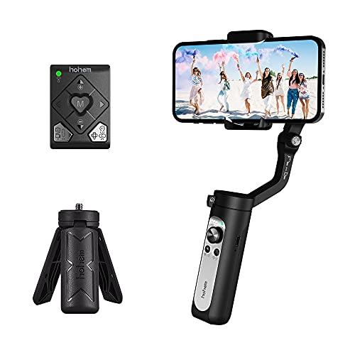 Gimbal Smartphone - Hohem iSteady X2 Stabilisator, Ferngesteuert Gimbal für iPhoneSamsungHuawei, Intelligente Fernbedienung, Leichter Faltbarer Gimbal Stabilisator, 10 Std. Akkulaufzeit (Schwarz)