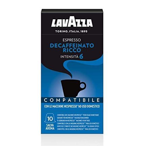 Lavazza Capsule Compatibili Nespresso Decaffeinato, 10 Confezioni da 10 Capsule