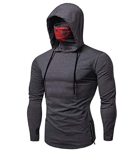 INMEL Stretch Fitness Kapuze Herren Ninja Anzug Call of Duty Ghost Schädel Maske Größe Pullover Herren