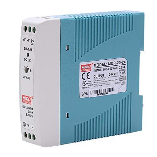 Nrpfell MDR-20 24V 20W Din Fuente de Alimentación de Carril Ac/Dc Fuente de Alimentación Del Regulador de Voltaje Del Conductor 110V 220V
