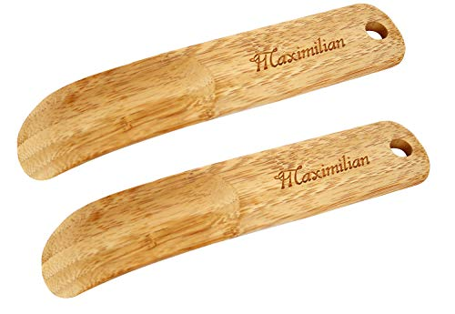 Shoe Horn, 7.6' Bamboo Travel Shoe Horn for Adults & Kids, Pack of 2