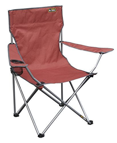 Quik Shade 146115 Chair Folding Quad Chair with Carrying Bag, Bright Red