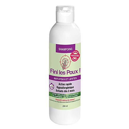 NutriExpert Shampoing Fini Les Poux – Solution Anti-Poux et lentes Actifs 100% origine naturelle – Adultes et Enfants - 200 ml