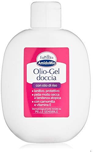 Amido Mio Olio-Gel Doccia Olio di Riso - Detergente per Pelli Sensibili ai Tensioliti - 200 ml