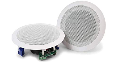 "Audibax, Altavoces Techo CM508L-BT, Altavoces Techo Blanco Bluetooth 5.25"" Empotables, Gran Potencia de 20W + 20W, Color Blanco, Fácil Instalación"