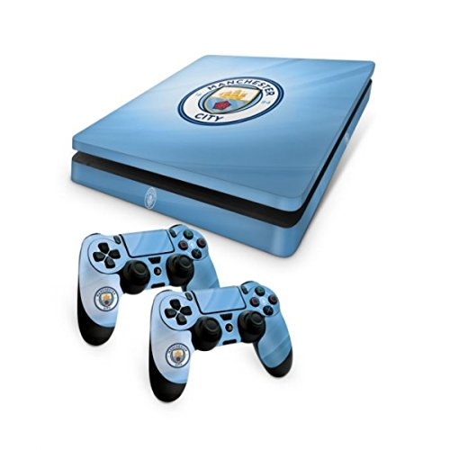 Official Manchester City FC PS4 Slim Console Skin and 2x ...