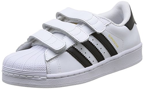 adidas - Superstar Foundation, Sneakers a collo basso infantile, Multicolore (Ftwwht/Cblack/Ftwwht), 30