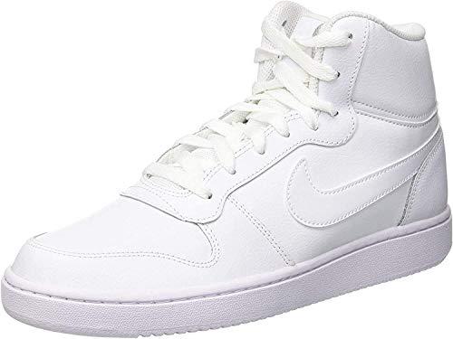 Nike Ebernon Mid, Zapatos de Baloncesto para Hombre, Blanco (White/White 100), 39 EU