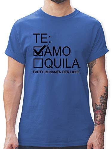 JGA Junggesellenabschied Männer - Teamo/Tequila - schwarz - XXL - Royalblau - schwarzes t-Shirt - L190 - Tshirt Herren und Männer T-Shirts