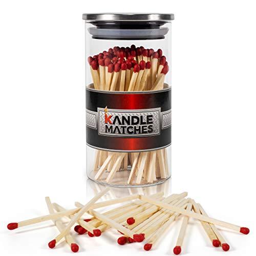 Majestic Zen- Kandle Matches | Luxury Decorative Matches | 100- Premium Long Matches for Candles | Candle Matches | Matches in a Jar | Incense Matches | Long Wooden Matches