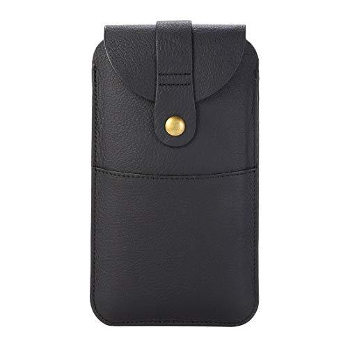 GUOQING Clips de cinturón de teléfono para iPhone 11 Pro 8 X Samsung Galaxy ys3 S4 S6 S7 Funda con clip para cinturón con cierre magnético para hombre