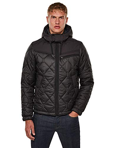 G-STAR RAW Mens Attacc heatseal Quilted HDD JKT Jacket, dk Black C470-6484, Medium