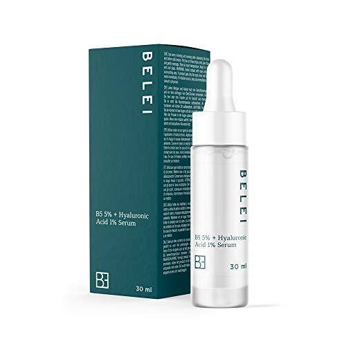 Amazon Marke: Belei - 5 %-iges B5 + 1 %-iges Hyaluronsäure-Serum, 91.4% natürlichen Inhaltsstoffen, für Veganer, 30 ml