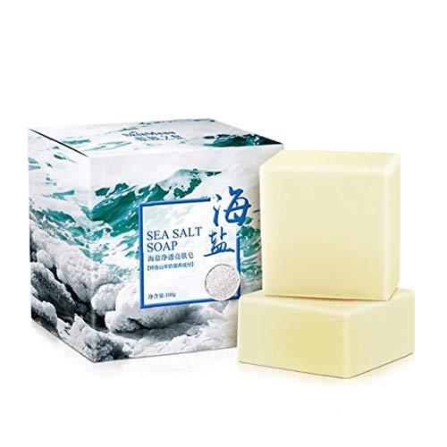 Hecho a Mano Sea Salt Jabón Orgánico De Leche De Cabra Jabón Exfoliante E Hidratante De La Piel De Limpieza Profunda Jabón Natural para Toda La Piel Condiciones 1pc