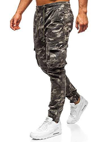 BOLF Hombre Pantalón Jogger Pantalones de Algodón Pantalón Deportivo Estilo Urbano 6F6