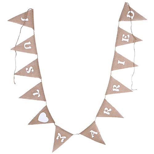 Estilo Shabby Chic Banderines de Yute 15 Unidades Tela Vintage Omenluck