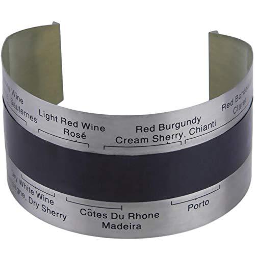 Lishaodonglishaodon Medidor de Temperatura del termómetro Digital del Vino Tinto LCD 4-24  Herramientas de medición de Temperatura de Acero Inoxidable