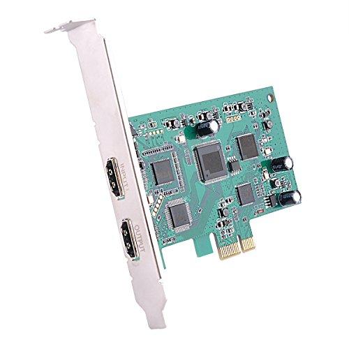 Y&H Tarjeta de captura de vídeo HD PCIe Soporte para capturar grabaciones de vídeo HDMI HD 1080P 60FPS Twitch Hitbox Youtube Streaming Live para PS3 PS4 Xbox One 360 Wii U y Nintendo