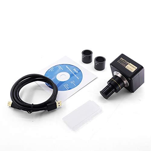 SWIFT Swiftcam SC633UR, 6.3 Megapixel Kamera für Mikroskope, USB 3.0, mit Verkleinerungsobjektiv, Kalibrierungsobjektträger, Okular Adapter, kompatibel mit Windows/Mac/Linux