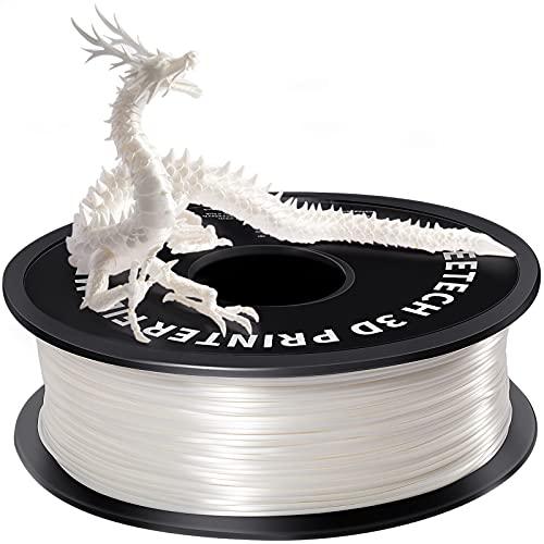 GEEETECH PLA filament 1.75mm Silk Weiß, 3d filament PLA for 3d Drucker 1kg spool