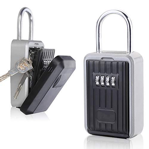 WBTY Schlüsselsafe mit Zahlenkombination zum Aufhängen von Schlüsseln, tragbar, Zahlenkombination