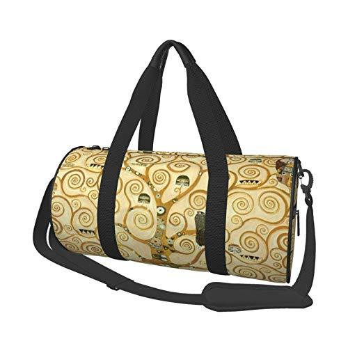 Gustav Klimt - Bolsa de deporte ligera y potable, bolsa de lona para el hombro para el árbol de la vida de gran capacidad, bolsa de viaje multifunción para gimnasio, fitness