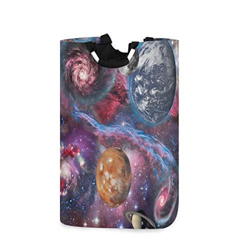MNSRUU Space Landscape Galaxy Nebula Wäschekorb Wäschekorb groß Aufbewahrungskorb mit Griffen für Geschenkkörbe, Schlafzimmer, Kleidung