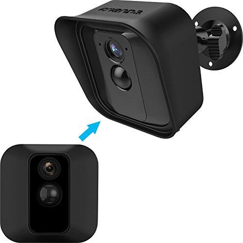 Soporte de Montaje de Pared Ajustable de 360 Grados y Piel Protectora de Silicona para Cámara de Seguridad Interior/Exterior Blink XT (1, Negro)