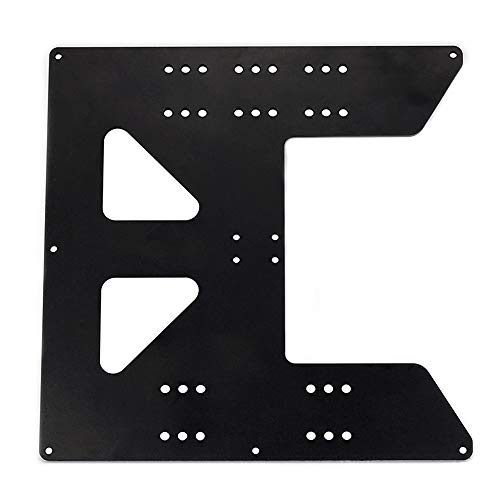 BCZAMD Upgrade Y Carriage Anodized Aluminum Plate for A8 Hotbed Support for Anet A8 A6 3D Printers Heated Bed 219x219x3mm, Black