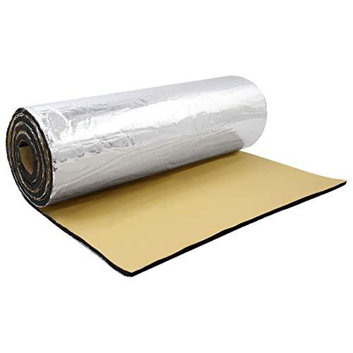 197mil / 5 mm 16.36sqft 60'x40' puerta de coche techo maletero guardabarros motor calor insonorizante alfombra de aluminio resistente