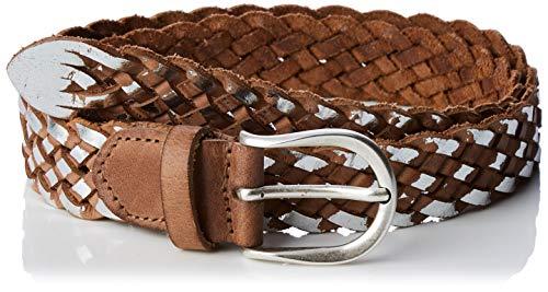 BRAX Dames stijl gevlochten riem Casual breed tweekleurige riem