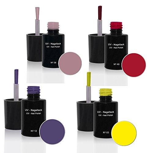 UV Vernis à ongles Set 4 x6ml - UV Vernis à ongles Set N°3