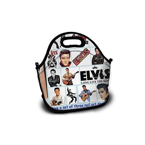 DOPPELTE El-vis Pre-sley Personalisierte Leichte Lunch Bag Handtasche für Kinder Reißverschluss für Schultasche