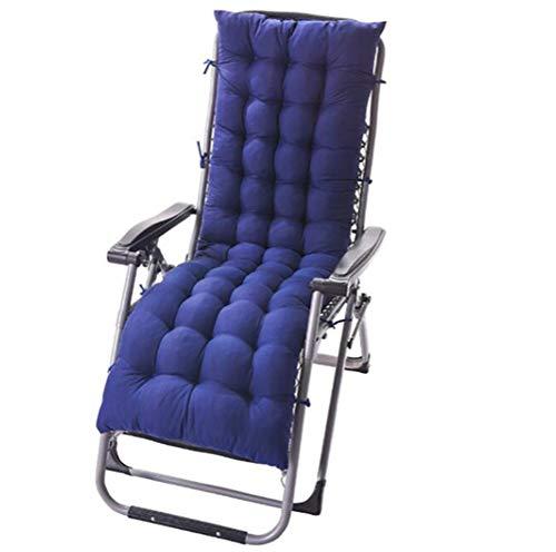 RongWang Solid Long Cushion Mat For Recliner Rocking Rattan Chair Folding Thick Garden Sun Lounge Seat Cushion Sofa Tatami Mat No Chair (Color : C, Size : 48 * 170 * 8)