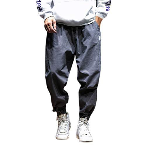 PANPANYAbbigliamento Uomo Uomo PANPANY Mens Autunno Inverno Casual Fashion Slack Tuta Pantaloni Piccoli Piedi noni pantaloni e La Tuta da, disinvolta con i Suoi Pantaloni medio Grigio