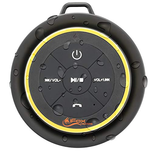 iFox iF012 Bluetooth Shower Speaker - Certified Waterproof -...