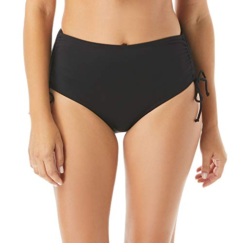 BEACH HOUSE Women's Hayden High Waisted Bikini Swimsuit Bottom with Adjustable Side Ties, 001 Black, 10