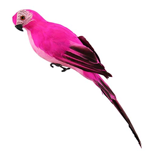 Fan-Ling Colorful Fake Parrots,Artificial Birds Model Outdoor Home Garden Lawn Tree Decor,Garden Yard Outdoor Indoor Art Crafts Decor,Cute Craft Decorative Ornaments for Home Table Decoration (B)