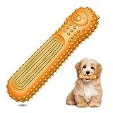 RoxNvm Palo de Dientes de Perro, Juguetes para Masticar Perros agresivos, Juguetes de Dientes indestructibles para Perros pequeños y medianos, Cuidado y Limpieza de Dientes de Perro (Naranja)