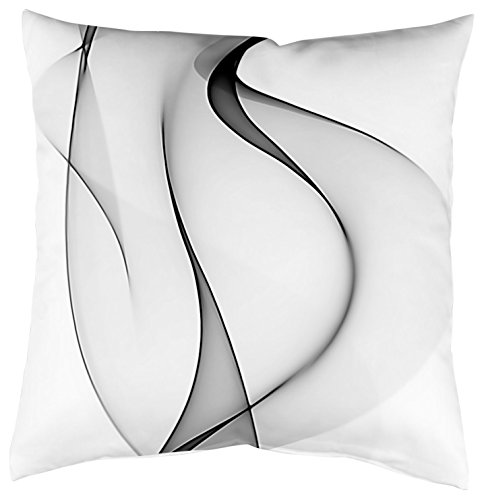 Home Fashion Kissenhülle Digitaldruck, Samt, grau, 1 x 40 x 40 cm