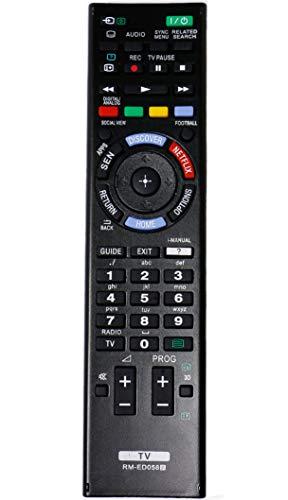 VINABTY RM-ED058 Fernbedienung für Sony KDL-55W815B KDL-50W815B KD-75S9005B KD-65S9005B KDL-55W829B KDL-50W829B KDL-55W828B KDL-50W828B KDL-42W815B KDL-42W805B KDL-55W955B KDL-42W828B KDL-42W829B TV