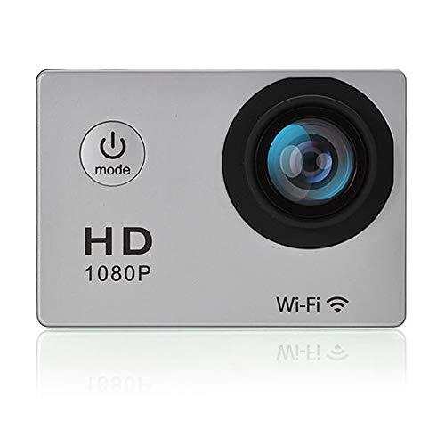 Lisansang Cámara de acción Deportes DV Impermeable 1080P HD de 1,5 Pulgadas de la cámara del Coche DVR para Bicicleta, Buceo, natación (Color : Gray, Size : One Size)