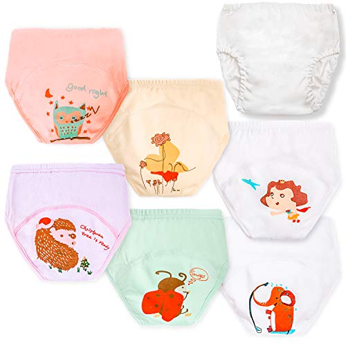 Potty Training Underwear for Girls + Plastic Diaper Cover 2t Panties for Girls Toddler Potty Training 2t Underwear Girls Toddler Training Underwear Girls 2t Girls Underwear Toddler Underwear Girls 2t