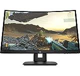 HP X24c Écran gaming incurvé 23,6' Full HD Noir (HDMI/DisplayPort, 1920 x 1080, 16:9, 144 Hz, 4 ms, AMD Free-SYNC)