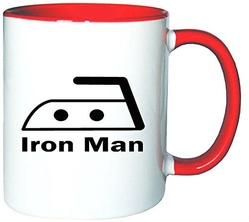 Mister Merchandise Kaffeetasse Becher Iron Man Bügeln Teetasse