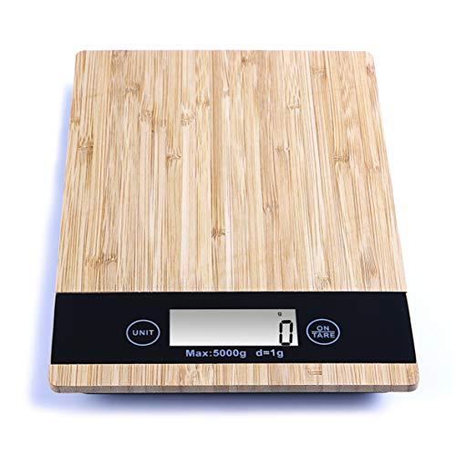 TSEC bascula de Cocina Digital, Tanita balanza de Precision para Comida Alimentos, Pesa Gramos. báscula Peso medidor Multifuncional hasta 5 kg, electrodomesticos, Utensilios reposteria y pastelería