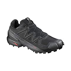 TRAIL RUNNING SHOES: Featuring an aggressive grip, precise foothold, & protection, the Salomon Speedcross 5 is the ideal shoe for runners who want to conquer soft, technical trails. GET ROUGH: Redesigned with deep, sharp lugs for an improved grip & a...