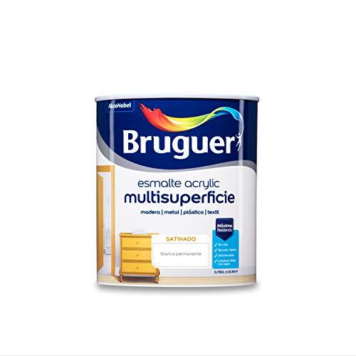 Bruguer Acrylic Multisuperficie Esmalte al agua Satinado Blanco Permanente 750 ml